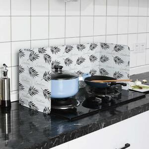 Folding Cooking Oil Splash Screen Cover Anti Splatter Kitchen $5.69