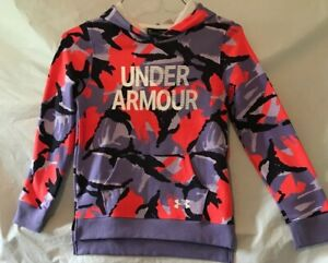 Under Armour Girls Hoodie. Purple Pink Black Camo. Size Youth Small. NWT. $30.00