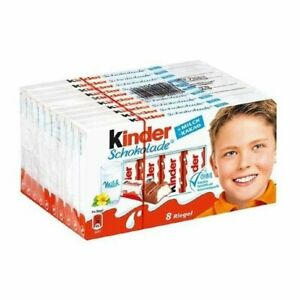 KINDER CHOCOLATE MILK CHOCOLATE CREAMY MILK FILLING 10 PACK 8 BARS Exp. 10/05/20