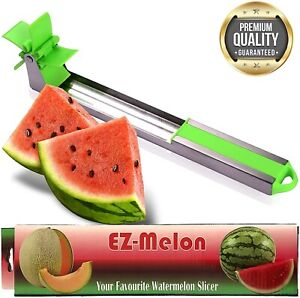 EZ Melon Stainless Steel Watermelon Slicer - Melon and Cantaloupe Fruit Slicer