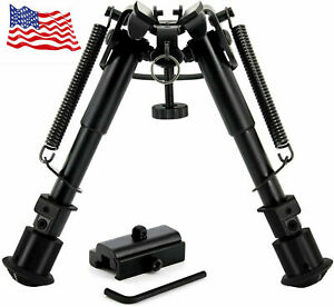 6quot; to 9quot; Compact Spring Return Sniper Hunting Rifle Bipod Picatinny Rail Mount