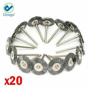 20pc Stainless Steel Wire Brush Fit Dremel Rotary Tool Die Grinder Removal Wheel $7.99