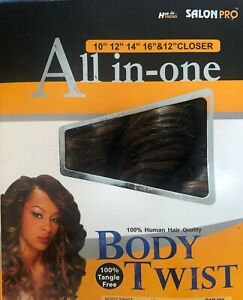 Hair Trend SALONPRO ALL in ONE Body Twist 5 Pc Weave closer Real Hair Feel $8.99