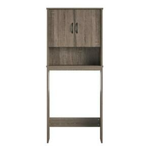 Ameriwood Home Classic Over the Toilet Storage Cabinet in Distressed Gray Oak