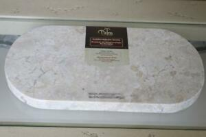 PALM RESTAURANT NATURAL MARBLE CUTTING SERVING BOARD - BEIGE/PEACH/GRAY - NEW