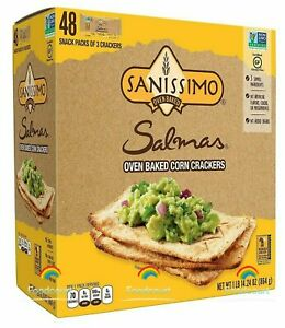 Sanissimo Salmas Oven Baked Corn Crackers 48 ct 30.24 oz Each Pack