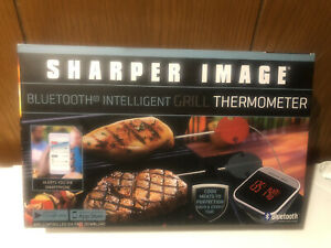 Sharper Image Bluetooth Intelligent Grill Thermometer NEW Sealed BBQ Grill Meat