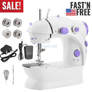 Portable Electric Sewing Machine Desktop Household Tailor 2 Speed Foot Pedal USA $17.99