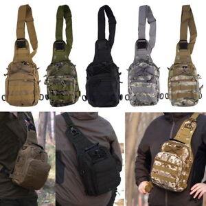 Tactical Military Camo Crossbody Shoulder Bags Men#x27;s Hiking Camping Backpack