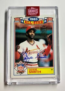 2019 Topps Archives Signature Ozzie Smith Auto 1 1 1984 Topps All Star