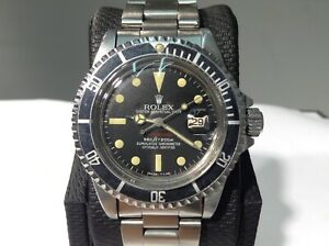 ROLEX 1680 RED SUBMARINER FAP 1974 Peruvian Air Force S/Steel 40mm! Very Nice!