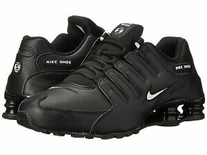 Nike Mens Shox NZ EU Running Shoes BLACK LEATHER WHITE 501524 091 NEW All Sizes $100.00