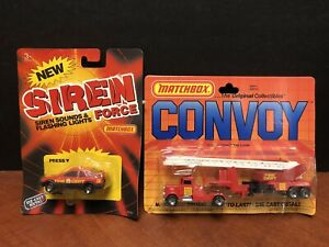 Matchbox Convoy Fire Engine amp; Siren Force Fire Dept Lot Of 2 Dela2828
