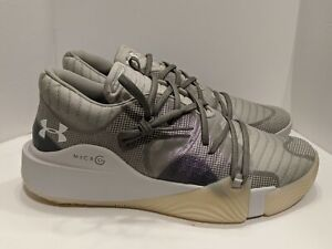 Under Armour UA Men Anatomix Spawn Low Basketball Shoes Green Purple Size 12 $72.46