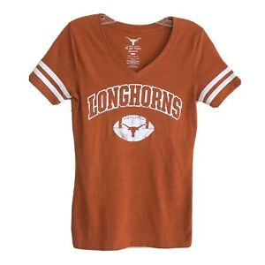 Texas Longhorns Football Fitted V Neck T shirt Size S $11.99