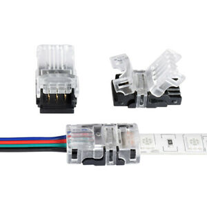 5Pcs LED Strip Wire Connector 5 4 3 2 Pin For Single/Dual Color/RGB 3528 5050 2