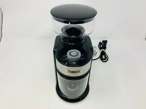 Tibek HY-1421 Burr Coffee Grinder, with Large Hopper Electric Burr Mill