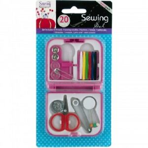 Sewing Kit with Case Thread Pins Needles Buttons Sew Supplies Spool $4.63