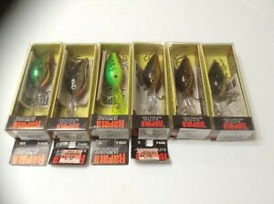 6 Rare Rapala Fat Rap DRFR-5 Finland Crankbaits Fishing Lures Tackle Find