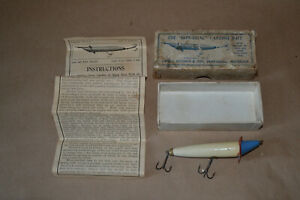 Pre-1906 HEDDON DOWAGIAC Slope Nose Expert Bait With Box And Instructions