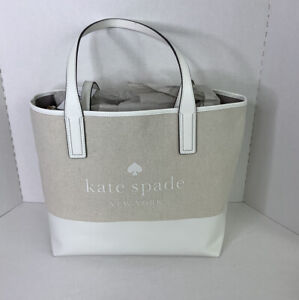 NWT Kate Spade Ash Street Logo Triple Compartment Tote