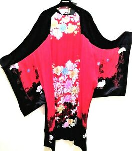 Roberto Cavalli Kaftan Long Sleeve Floral Multicolor 40 Euro Formal