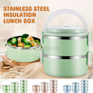 2/3/4Layers Stainless Steel Lunch Box Insulation Thermal Food Bento Contai