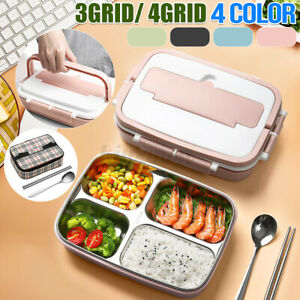 Thermal Insulated Lunch Box Bento Food Container For Kids Women Stainless Steel*