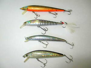 LOT OF 4 JERKBAIT LURES LUCKY CRAFT SMITHWICK DAIWA TD  MINNOW AND MEGA BAIT