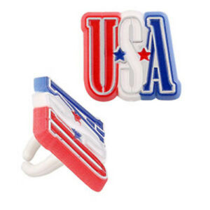 24 USA Letter Cupcake Rings Cake Toppers Decorations Party Supplies July 4th
