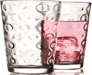 Juice Drinking Beverage Glasses 7 OZ Clear Heavy Base Bar Glass Set of 4 Home