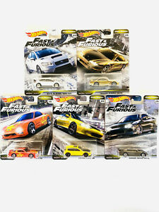 2020 Hot Wheels Fast and Furious Fast Tuners Set of 5 Cars 1 64 Premium Diecast