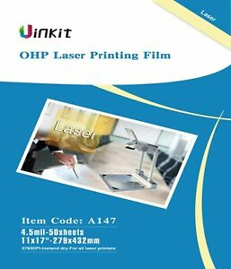 OHP Film Overhead Projector Film 11x17 for Laser Jet Printer and Copier $27.72