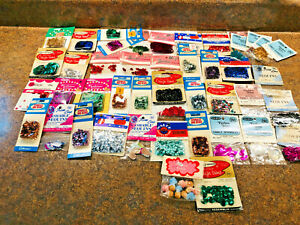 Huge Lot of vintage sequins Spangles Walbead Costumakers Crafthouse Arts Crafts