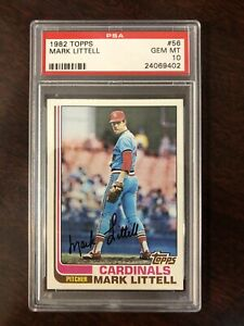 1982 Topps #56 Mark Littell PSA 10 Set Break