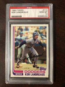 1982 Topps #114 Ken Landreaux PSA 10 Set Break