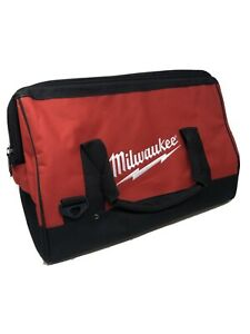 Milwaukee 17-inch Tool Bag Heavy Duty Canvas Contractor Case M12 M18 (17x12x10)