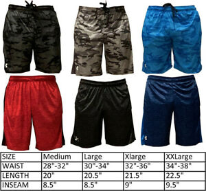 Under Armour Heat Gear Men's Athletic Shorts Gym Basketball Training Drawstring $16.99
