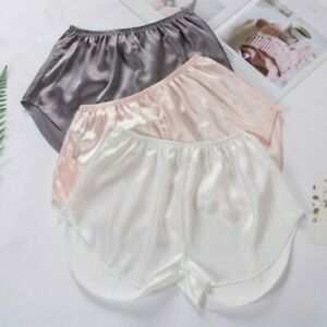 Women Faux Silk Satin Safety Under Shorts Panty Knicker Pants Lounge Bottom Soft $8.82