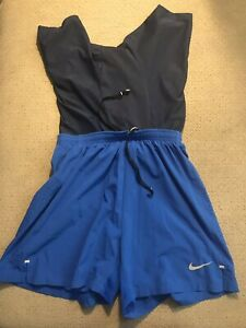 Men's Nike Racing Lined Compression Running Shorts Pocket Blue Small S $45.00
