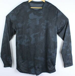 Under Armour Loose Men XL Blue Digital Camo Long Sleeve Athletic Shirt Workout $24.95