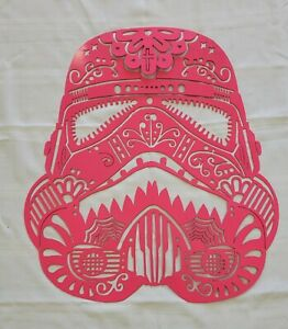 Pink Storm Trooper Head Star Wars Metal Art $40.00