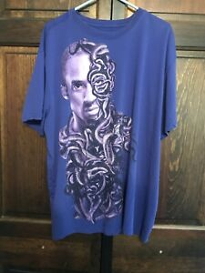 Nike Kobe Bryant Lover Dri Fit Lakers Mamba Snake Face Purple Tee Shirt Size 3XL $225.00