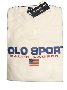 Polo Sport Ralph Lauren 1992 Classic Fit Cotton Tee T Shirt White Extra Large XL $49.00