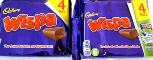 Cadbury Milk Chocolate 'WISPA BARS' 8 x 30g (1.06oz) Bars. Made in the UK.