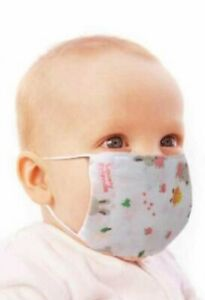 8 PCS 100% Cotton kids face mask Breathable thin light for kids cheap price