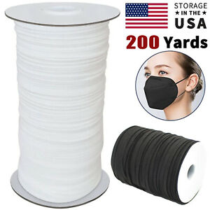 1 8 1 4 Inch Width Elastic Band Sewing Black White Flat DIY Face Mask 100 Yards $17.99