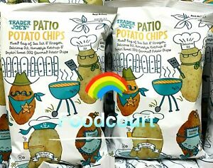 2 Packs Trader Joe's Patio Potato Chips with Sea Salt & Vinegar 6 oz Each Pack