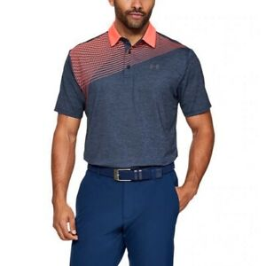 NEW MENS UNDER ARMOUR PLAYOFF 2.0 GOLF POLO SHIRT X LARGE XL SPEITH BLUE PINK $34.99