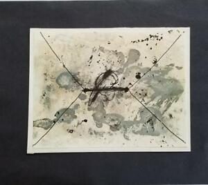 Antoni Tapies quot;The Envelope quot; Mounted Color offset Lithograph 1973 $39.00